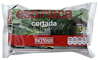 Hacendado Espinaca cortada 2 porciones congelada Paquete 450 g