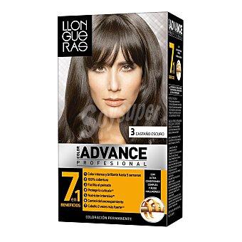 Llongueras Tinte castaño oscuro Nº3 Advance Profesional Caja 1 u