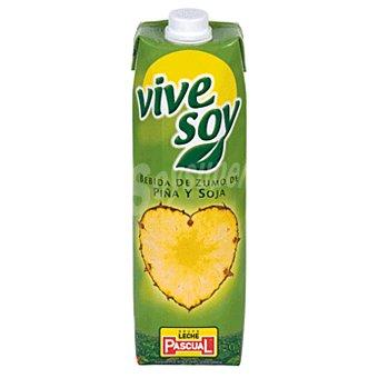Vivesoy de Pascual Zumo de piña con soja Brik 1 litro