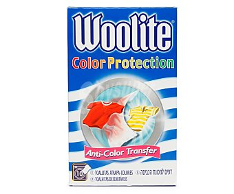 Woolite Toallitas color protection Caja 10 unid