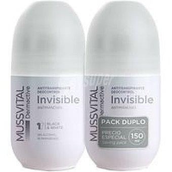 Mussvital Desodorante invisible Dermactive Pack 2 x 75 ml