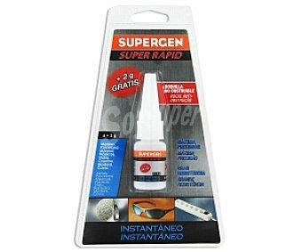 SUPERGEN Adhesivo Instantáneo Transparente Super Rápido de última Generación. 6 Gramos 1 Unidad