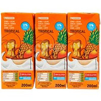 Eroski Lactozumo tropical Pack 6x200 ml