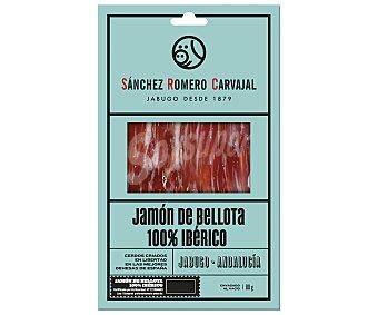 Sánchez Romero Carvajal Jamón ibérico 100% de bellota en lonchas 80 gramos
