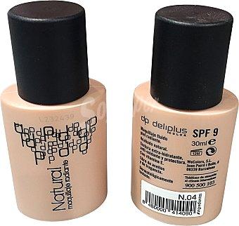 Deliplus Maquillaje fluido natural extra hidratante y antioxidante Nº 04 Tubo de 30 cc