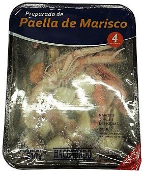 Hacendado Arreglo paella marisco congelado (almeja,mejillon,calamar troceado,camaron y cigala) Paquete 510 g