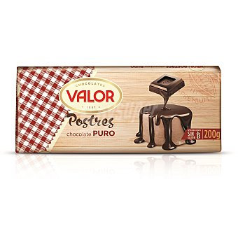 Valor Chocolate para postres puro Tableta 200 gr