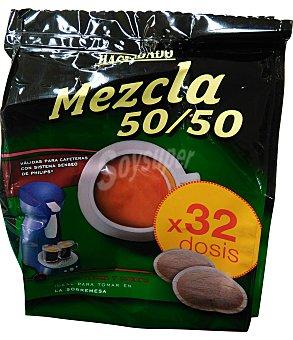 Hacendado Cafe monodosis (compatible con cafetera sistema senseo) mezcla Paquete 32 unidades