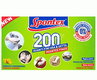 Spontex Guante Fino 200 Unidades