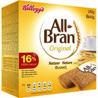 Kellogg's All bran All Bran Natural Barrita  Pack de 6x40 g