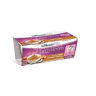 Bimanan Crema sabor caramelo vainilla Pack 2 x 210 gr