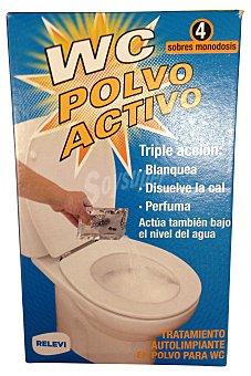 Relevi Limpiador polvo wc activo monodosis 4 sobres x 55 g