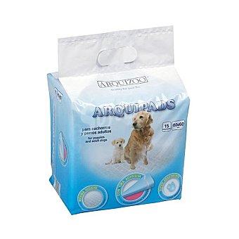 ARQUIVET Empapadores para perros medidas 60x90 cm Paquete 15 unidades
