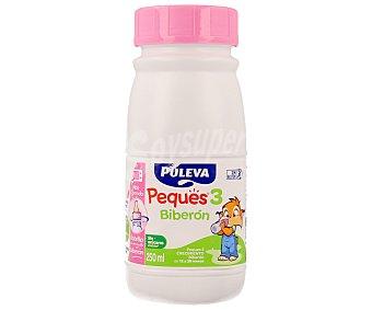 Puleva Leche de crecimiento peques 3 biberón desde los 12 a 36 meses del bebé 250ml