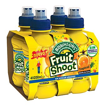 ROBINSONS Zumos de cítricos Fruit Shoot Pack 4x200 ml