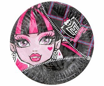 Monster High 8 platos 18 cm