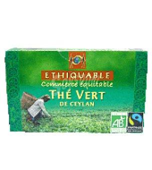 Ethiquable Té verde de ceilan 20 bolsitas 20 ud