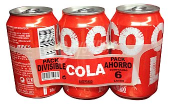 Hacendado Cola normal Lata pack 6 x 330 ml - 1980 ml
