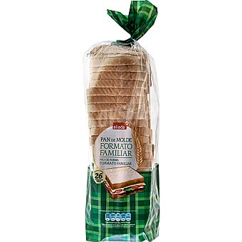 Aliada pan de molde blanco con corteza 26 rebanadas formato ahorro Bolsa 820 g