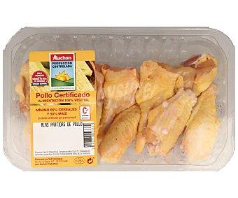 ALCAMPO PRODUCCIÓN CONTROLADA Bandeja de alas partidas de pollo certificado 510 gramos aproximados