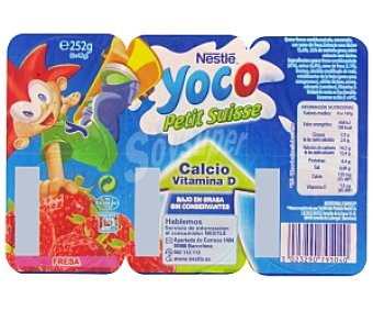 Nestlé Yoco Petit Fresa 6 Unidades de 42 Gramos