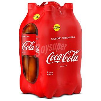 Coca-Cola Coca cola Pack 4 botellas de 2 litros