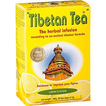 TIBETAN TEA Infusión de hierbas sabor limón 90 bolsitas Estuche 180 g