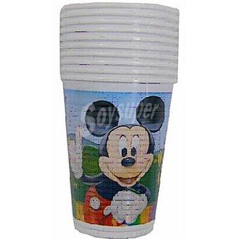 DISNEY vaso plástico Mickey Colours paquete 10 unidades 20 cl