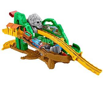 Fisher-Price Pista de tren Circuito de la selva de Thomas & Friends, incluye locomotora con remolque 1 unidad