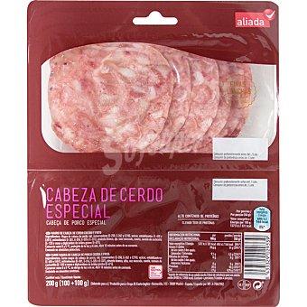 Aliada Cabeza de cerdo en finas lonchas sin gluten (100 g+100 g) Envase 200 g