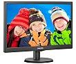 """Monitor Led Tamaño de pantalla 21,5"""", tecnología de imagen: led, resolución 1920 x 1080, formato 16:09 PHILIPS 223V5LHSB/00"""