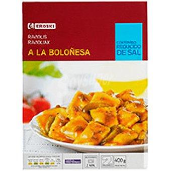 Eroski Raviolis en salsa de tomate Bandeja 400 g