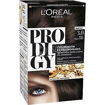 Prodigy L'Oréal Paris Tinte Khol Negro castaño nº 3.0 coloración extraordinaria caja 1 unidad tecnología micro-aceite sin amoniaco Caja 1 unidad