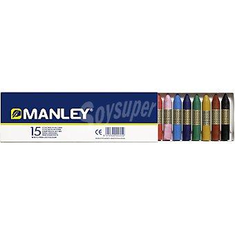 Manley Estuche con 15 ceras de colores