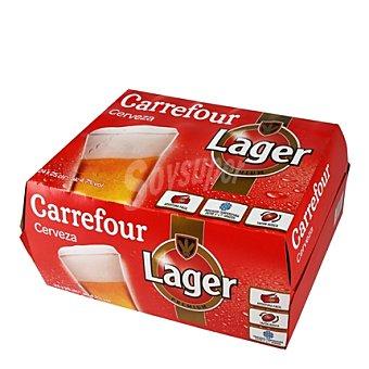 Carrefour Cerveza Carrefour Lager pack de 24 botellas Pack 24 x 25 cl