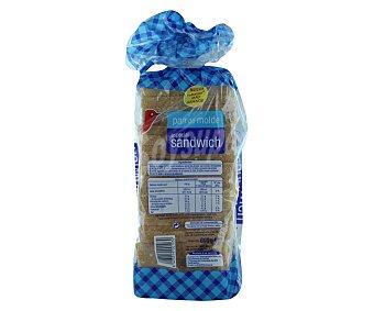 Auchan Pan de molde con corteza, especial sándwich 800 gramos