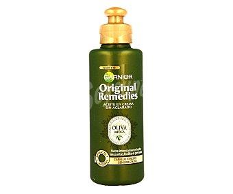 Garnier Aceite en crema sin aclarado para cabello reseco y sensibilizado (nutre intensamente hasta las puntas y facilita el peinado) 200 mililitros