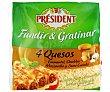 Queso rallado 4 quesos Bolsa 150 g President