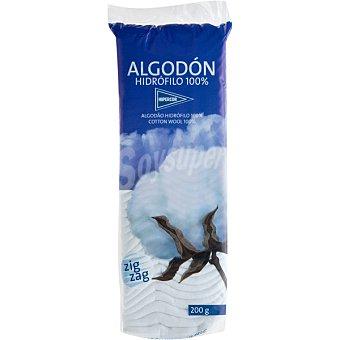 Hipercor Algodón zig-zag hidrófilo 100% Envase 200 g