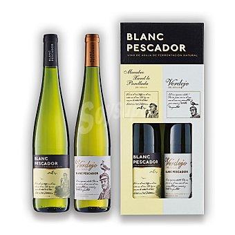Pescador Lote 103: Estuche de 1 vino blanc pescador blanco + 1 vino pescador verdejo Pack 2x75 cl