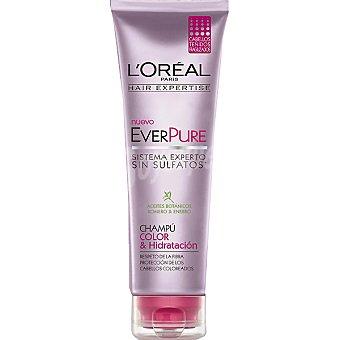 Solar Expertise L'Oréal Paris Champú everpure Color & Hidratación con aceites botánicos romero y enebro tubo 250 ml para cabellos teñidos y fragilizados Tubo 250 ml