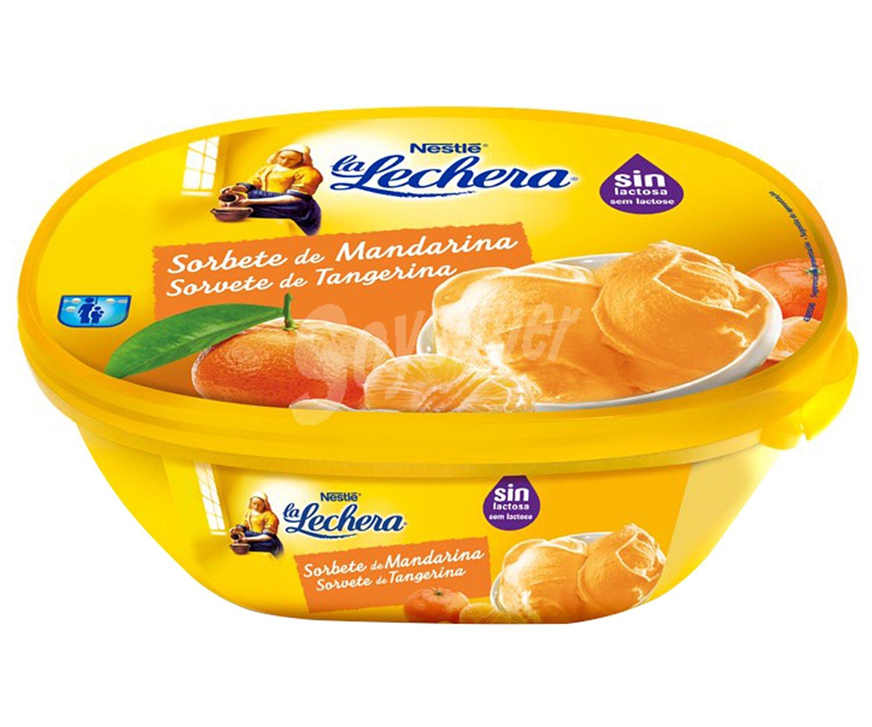 La Lechera Nestlé Tarrina De Helado De Sorbete De Mandarina Elaborado Sin Lactosa 1 L