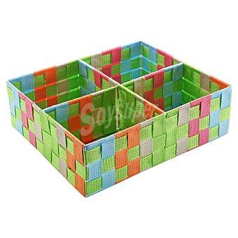 QUO Caja con 4 compartimentos Dec