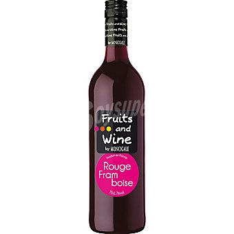 FRUITS & WINE Vino tinto frambuesa botella 75 cl