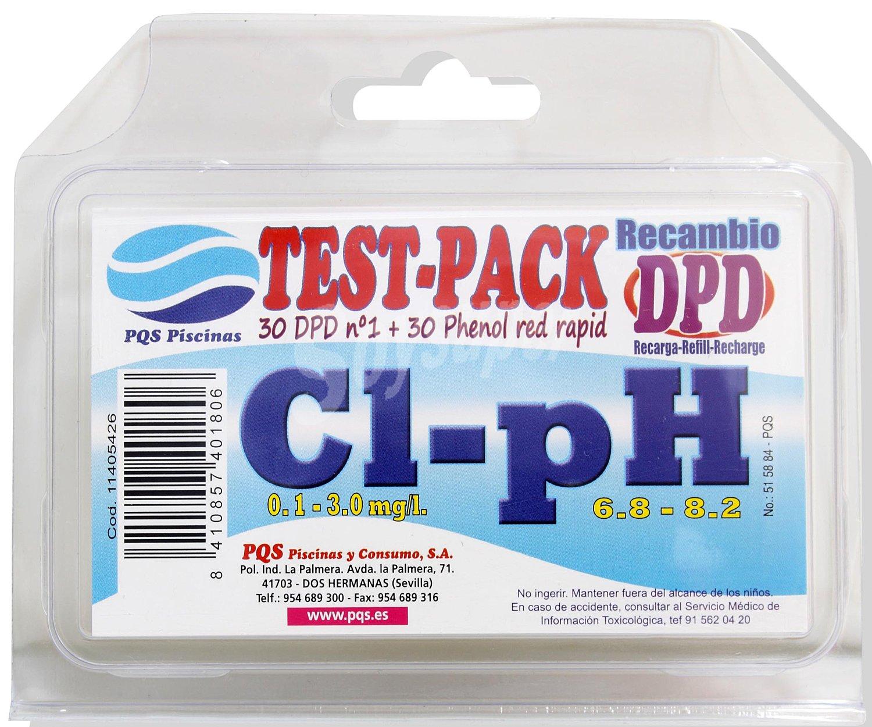 Pqs caja con recambios de pastillas para analizar el cloro for Cuanto sale construir una piscina