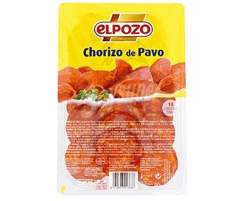 ElPozo Chorizo de pavo en lonchas 80 gramos