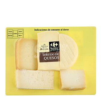 Carrefour Selección Tabla quesos: Majorero, Mancha, Idiazabal, Cántabro, Liébana 500 g