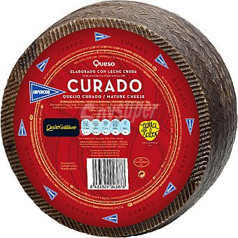 Hipercor Queso castellano curado elaborado con leche cruda peso aproximado pieza 3 kg