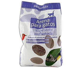 Auchan Arena absorbente perfumada (aroma floral) para gatos a base de arcilla 100% natural 5 kilogramos