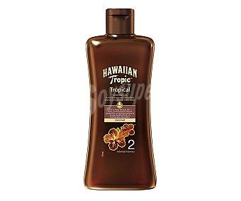 Hawaiian Tropic Aceite solar bronceador, con factor protección 2 (bajo) 200 ml